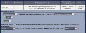 """Das Programm Zufall_Akt:  Regelmäßig """"neue"""" Zufallswerte erzeugen"""
